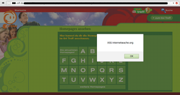 Screenshot of the XSS